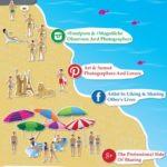 Cómo reconocer a la gente social en la  playa #infografía