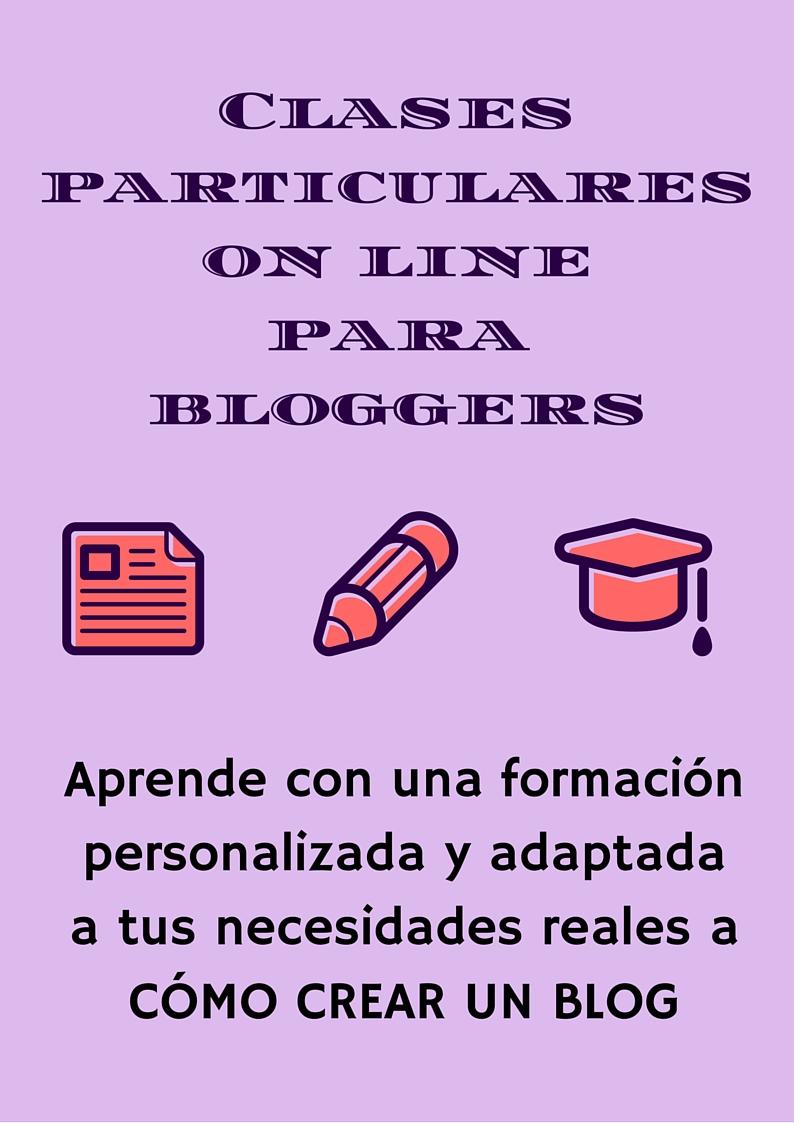 Clases particulares online para bloggers . Formación personalizada y adaptada a las necesidades reales. Como crear un blog. Anairas.